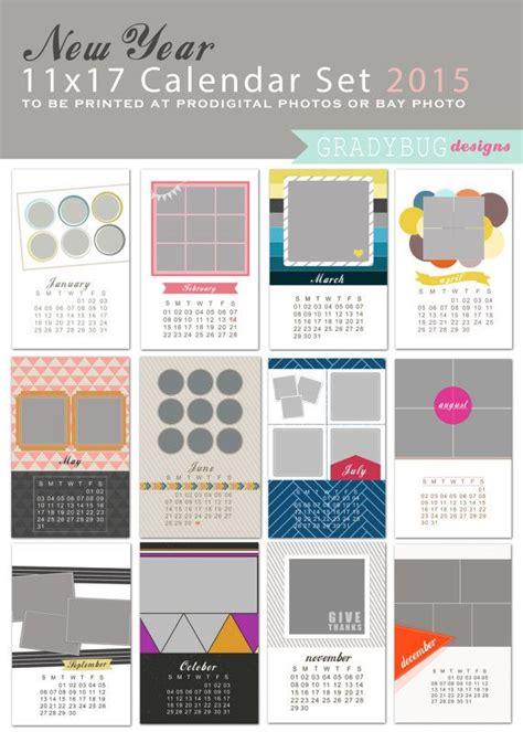 11x17 calendar template 2016 calendar set 11x17 photo calendar template calendar