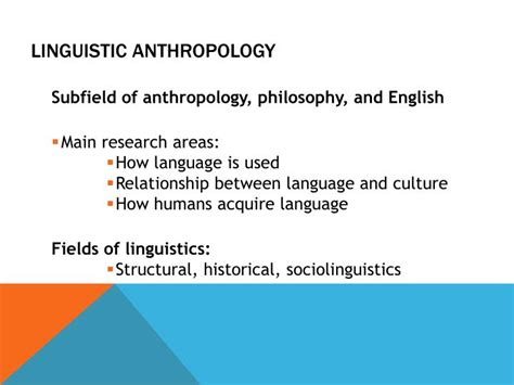 Linguistic Anthropology Essay Topics by Ppt What Is Anthropology Powerpoint Presentation Id 2819966