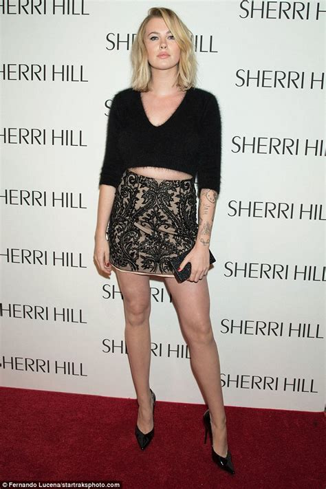 ireland baldwin debuts trendy lob hairdo at sherri hill