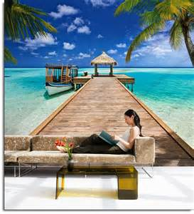 Affordable Wall Murals beach resort wall mural 8 921