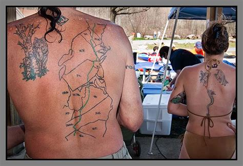 trail tattoos northbound an appalachian trail journey at design