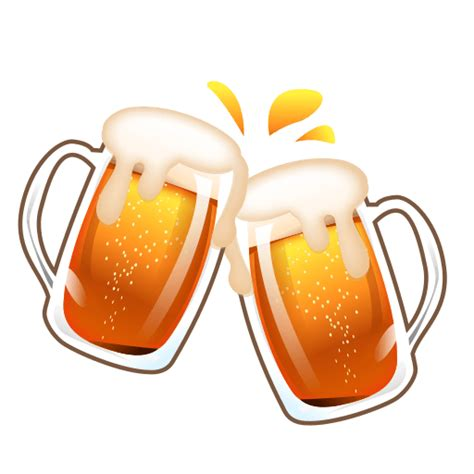 clinking glasses emoji beer mug emoji for facebook email sms id 11673