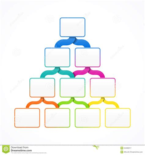 Pyramid Hierarchy Template Stock Vector Illustration Of Message 34499317 Template Hierarchy