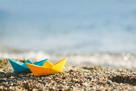 paper boat drinks rate paper boat ready to go on the ocean hd summer wallpaper