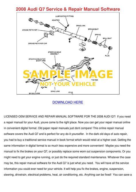 service and repair manuals 2008 audi q7 lane departure warning 2008 audi q7 service repair manual software by larrykeeney issuu