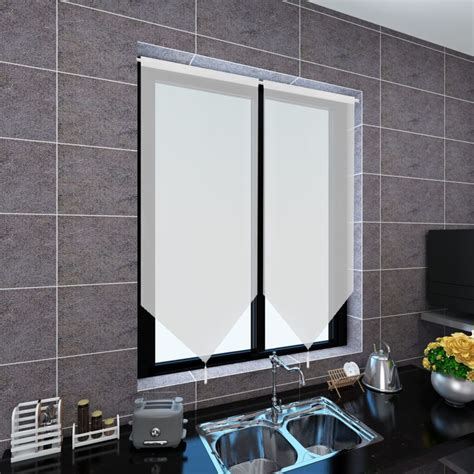 60 x 90 curtains 2 linen look sheer kitchen curtains 60 x 90 cm white