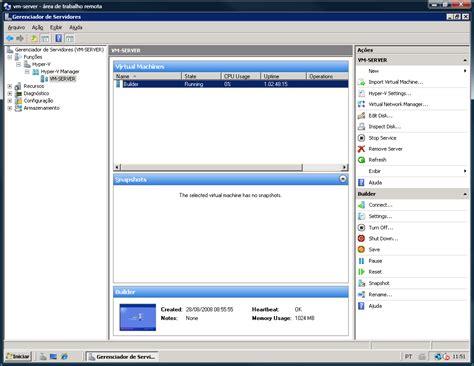 hyper v console migra 231 227 o vmware server para hyper v