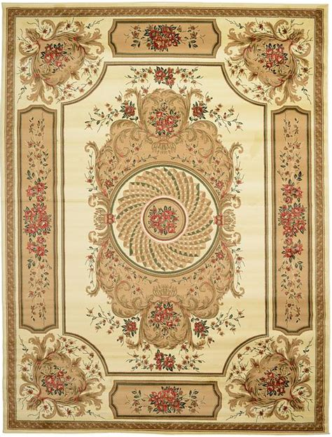 tappeti rugs ivory 9 10 x 13 classic aubusson rug area rugs esalerugs