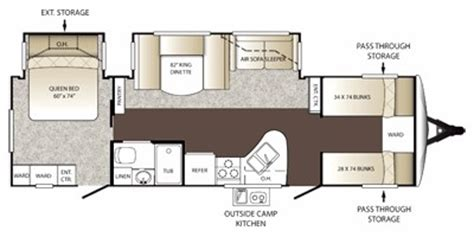 outback rv floor plans 2012 keystone outback 301bq trailer reviews prices and