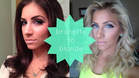 pictures of long beunettes gone blonde brunette to blonde how i did it at home youtube