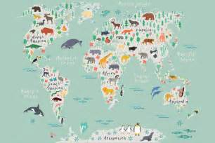 Bathroom For Kids - safari kids map mural wallpaper muralswallpaper co uk