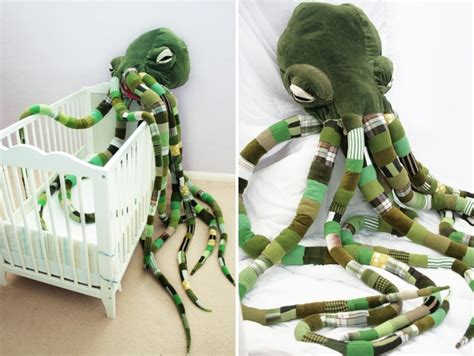 Handcrafted giant cthulhu octopus stuffed plush