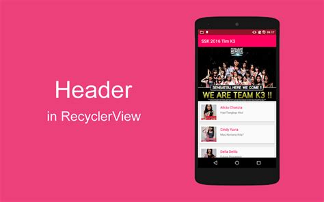 layoutinflater in android tutorial tutorial android add header in recyclerview media cyber