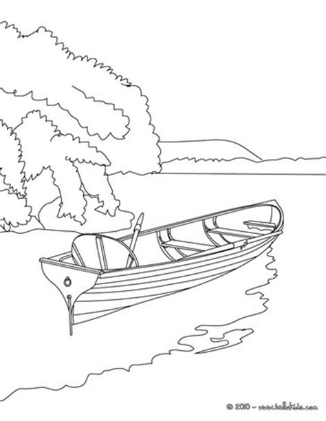 lake fish coloring pages rowboat on the lake coloring pages hellokids com