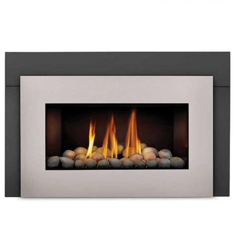 fireplace glass inserts napoleon gdi30nsb basic fireplace insert w glass door at