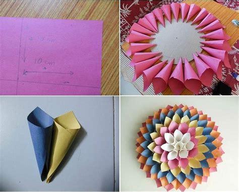 tutorial bunga dari kertas koran 25 ide terbaik kerajinan kertas di pinterest
