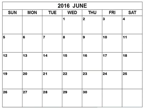 printable calendar template june 2016 printable calendar blank templates printable