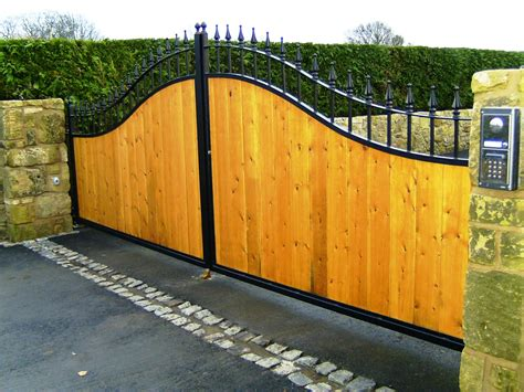 Garage Gate Design simply securesteel framed and timber clad gates simply