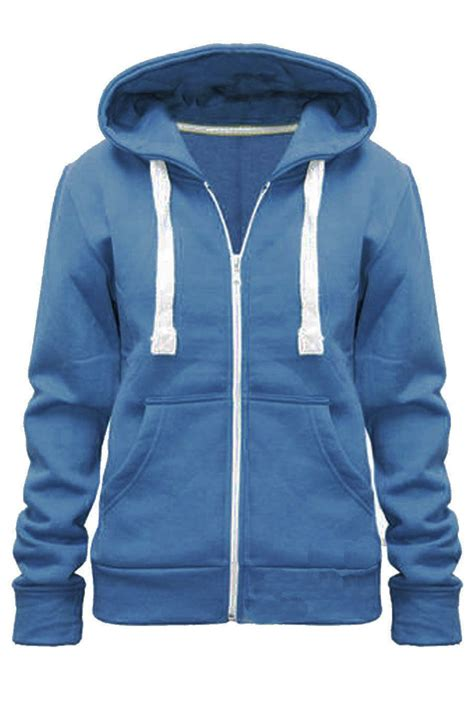 Jaket Zipper Hoodie Jumper Eiger West Womens Plain Hoodie Fleece Sweatshirt Hooded Coat