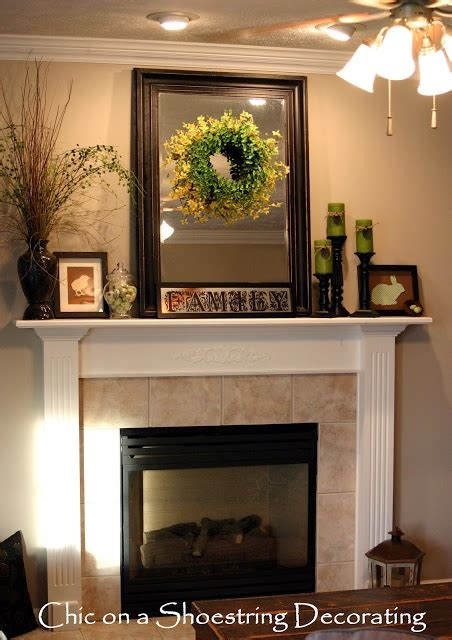 cheap nice home decor chic on a shoestring decorating easter mantel on the