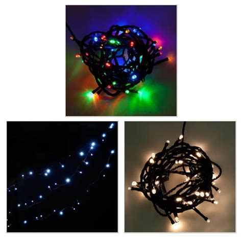 Outdoor Led Lights With Timer Battery Operated Outdoor Multi Effect Led Lights With Timer On Black Cable Lights