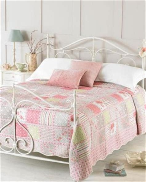 shabby chic style embroidered bedspreads throws double king size quitted throw ebay