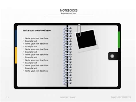 powerpoint templates free notebook powerpoint templates notebook paper images