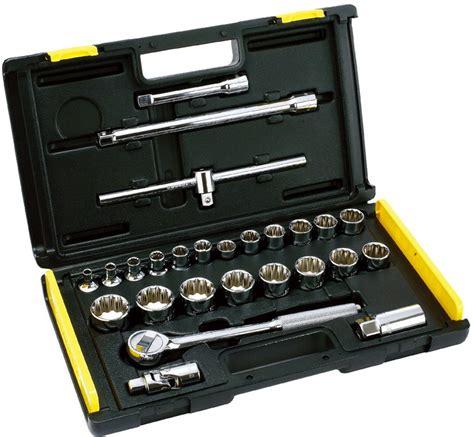 Kunci Sok Set stanley socket set 1 2dr 27pc tool sets horme singapore