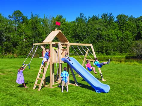swing set physics outdoor playsets for any budget