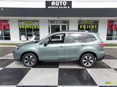 green subaru forester 2017 2017 green metallic subaru forester 2 5i limited
