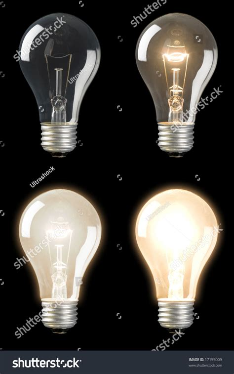 series sequenced light bulbs different brightness stock
