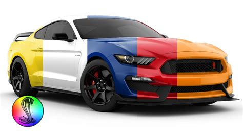 ford mustang colors 2018 ford mustang gt350 gt350r shelby colors