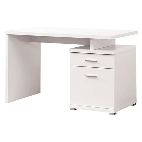 coaster 800110 white metal desk a sofa furniture