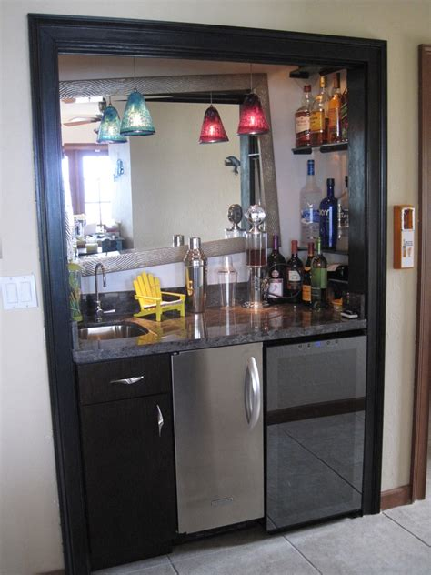 turning closet into bar pin by kelly finley on bar pinterest