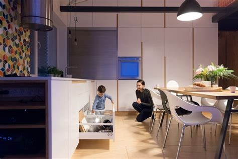 Clever Kitchen Design Loft Apartment In Superstructure By Architects