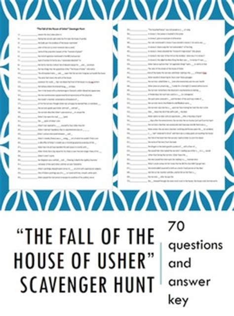 The Fall Of The House Of Usher Lesson Plans Quot The Fall Of The House Of Usher Quot Scavenger Hunt By Doksa