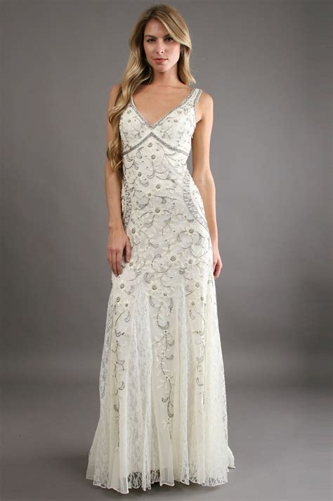 Embroidered Gown sue wong antique embroidered gown 30 in white ivory