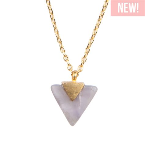 Pastel Triangle by All The Luck In The World Galaxy Necklace Pastel Purple
