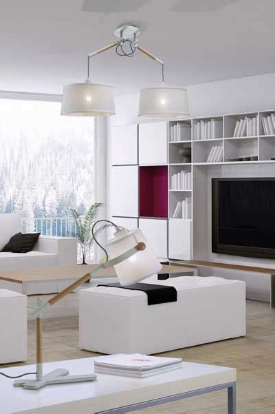 lampara de techo blanca de estilo nordico  salon  comedor