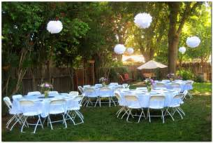 outside party ideas simple and lovely graduation party decoration idea