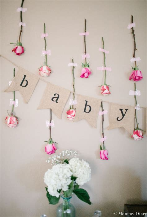 Floral Themed Baby Shower by Rustic Floral Baby Shower For Baby Diary
