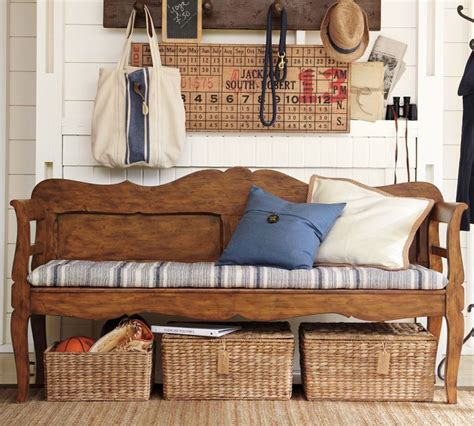 bench with baskets underneath 1000 ideas about storage bench with baskets on pinterest