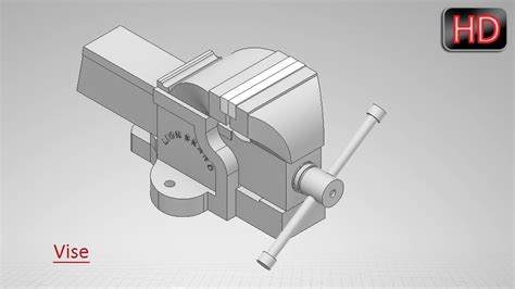 bench vise drawing autodesk inventor tutorial vise youtube