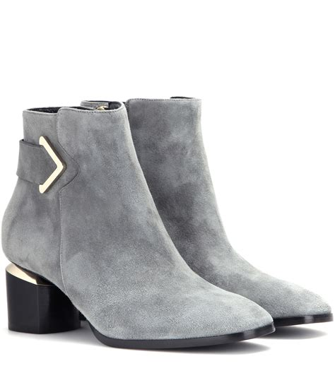 Boots Grey gray ankle boots yu boots