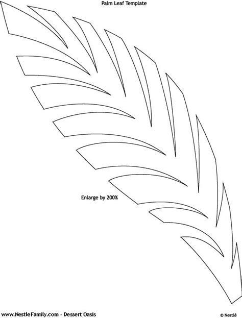 palm leaf template best 25 leaf template ideas only on leaves