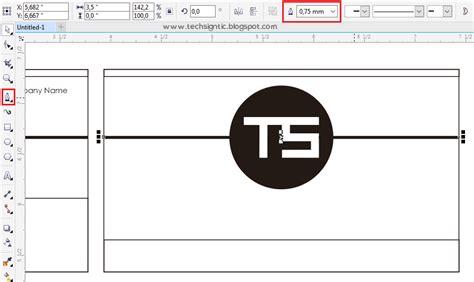 tutorial edit foto coreldraw x7 tutorial membuat kartu nama di coreldraw x7 techsigntic