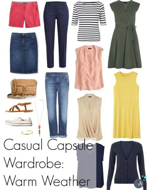 Wardrobe For College by Casual Capsule Wardrobe Summer Or Warm Weather