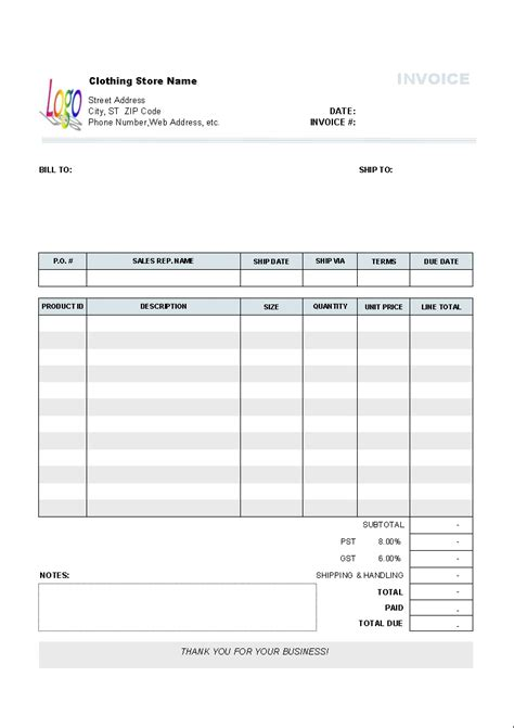 gnucash invoice templates invoice template ideas