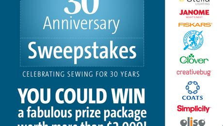 enter threads 30th anniversary sweepstakes threads