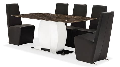 marble and stainless steel dining table syrah brown marble and stainless steel dining table zuri